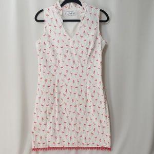 Flamingo Dress, Sz 8
